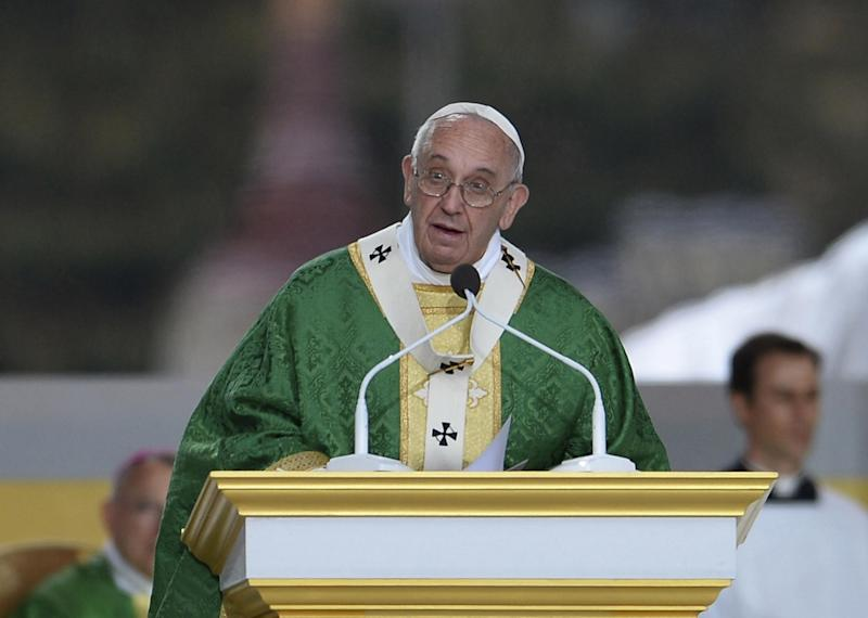 Pope Francis saying mass: Getty