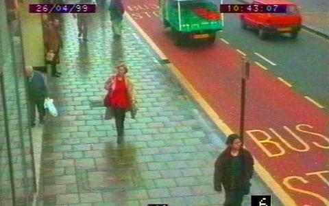 CCTV footage, issued by Scotland Yard, shows the television presenter on the morning of her death - Credit: Scotland Yard