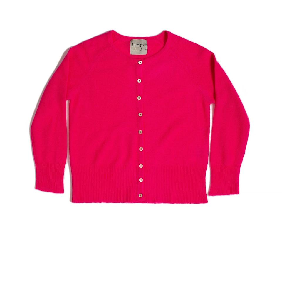 """<p>Wear a cashmere cardigan buttoned up to the top, tucked into wide-legged trousers for a relaxed but tailored look.</p><p>Cardigan, £230, Jumper 1234 at Atterley</p><p><a class=""""body-btn-link"""" href=""""https://go.redirectingat.com?id=127X1599956&url=https%3A%2F%2Fwww.atterley.com%2Fwomen%2Fbrands%2Fj%2Fjumper-1234%2Fjumper-1234-red-holy-cardigan-4&sref=https%3A%2F%2Fwww.townandcountrymag.com%2Fuk%2Fstyle%2Ffashion%2Fg32366455%2Fcold-weather-fashion%2F"""" target=""""_blank"""">SHOP NOW</a></p>"""