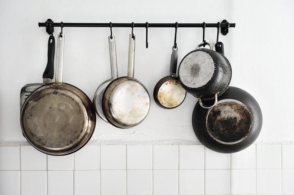 <p>After breakfast, use that large pan for a few overhead triceps extensions. Holding the handle overhead, bend at the elbows until the pan touches your back then return to starting position. Bonus points if you use a heavy cast iron skillet.</p>