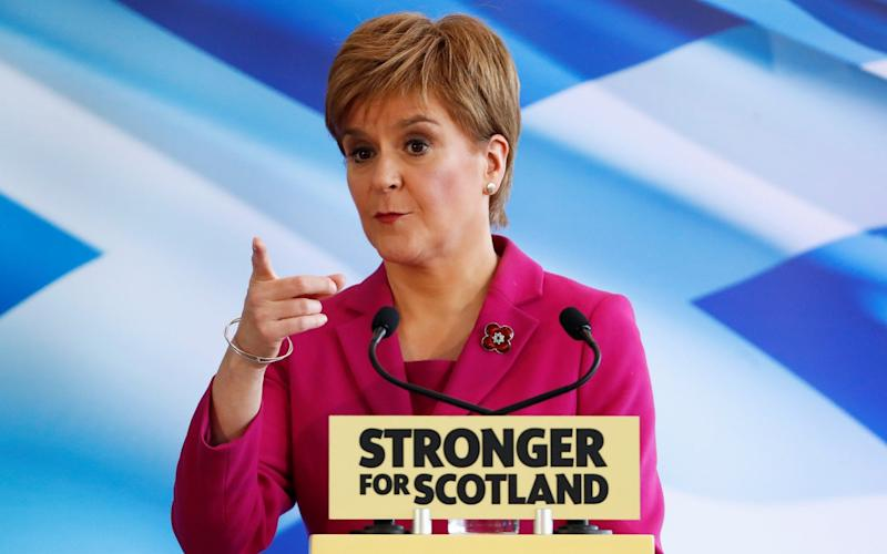 Scotland's First Minister Nicola Sturgeon launches the SNP's general election campaign - REUTERS