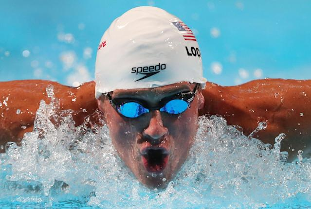 BARCELONA, SPAIN - JULY 31: Ryan Lochte of the USA competes during the Swimming Men's 200m Medley preliminaries heat five on day twelve of the 15th FINA World Championships at Palau Sant Jordi on July 31, 2013 in Barcelona, Spain. (Photo by Quinn Rooney/Getty Images)
