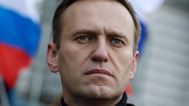 PHOTO: In this file photo taken on Saturday, Feb. 29, 2020, Russian opposition activist Alexei Navalny takes part in a march in memory of opposition leader Boris Nemtsov in Moscow, Russia. (Pavel Golovkin/AP, File)