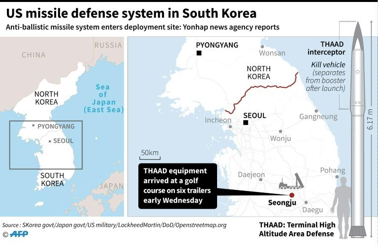 US missile defense system in South Korea