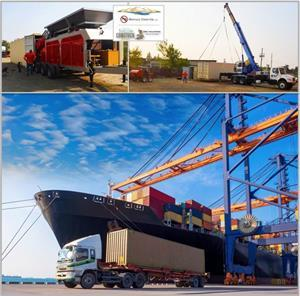 Oro Industries' second unit being loaded in its shipping container and is en route to the Philippines.