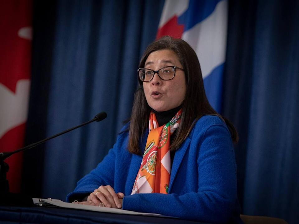 Toronto's medical officer of health Dr. Eileen de Villa issued a letter requiring participants of indoor sports to show proof of vaccination at the sports facilities, effective Nov. 1. (Evan Mitsui/CBC - image credit)