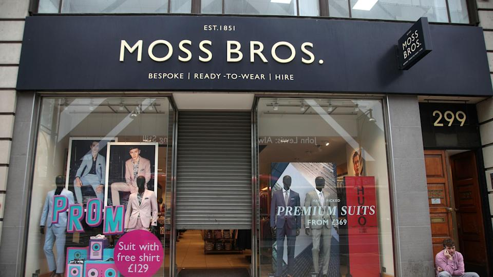Under pressure: Sales growth at Moss Bros over Christmas was driven by increased discounting. Photo: PA