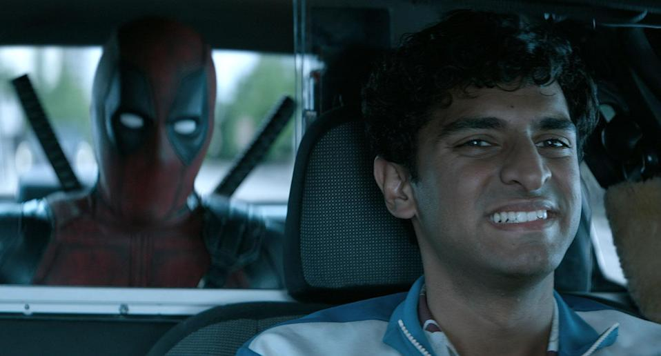 Ryan Reynolds and Karan Soni in <i>Deadpool 2</i> (20th Century Fox)