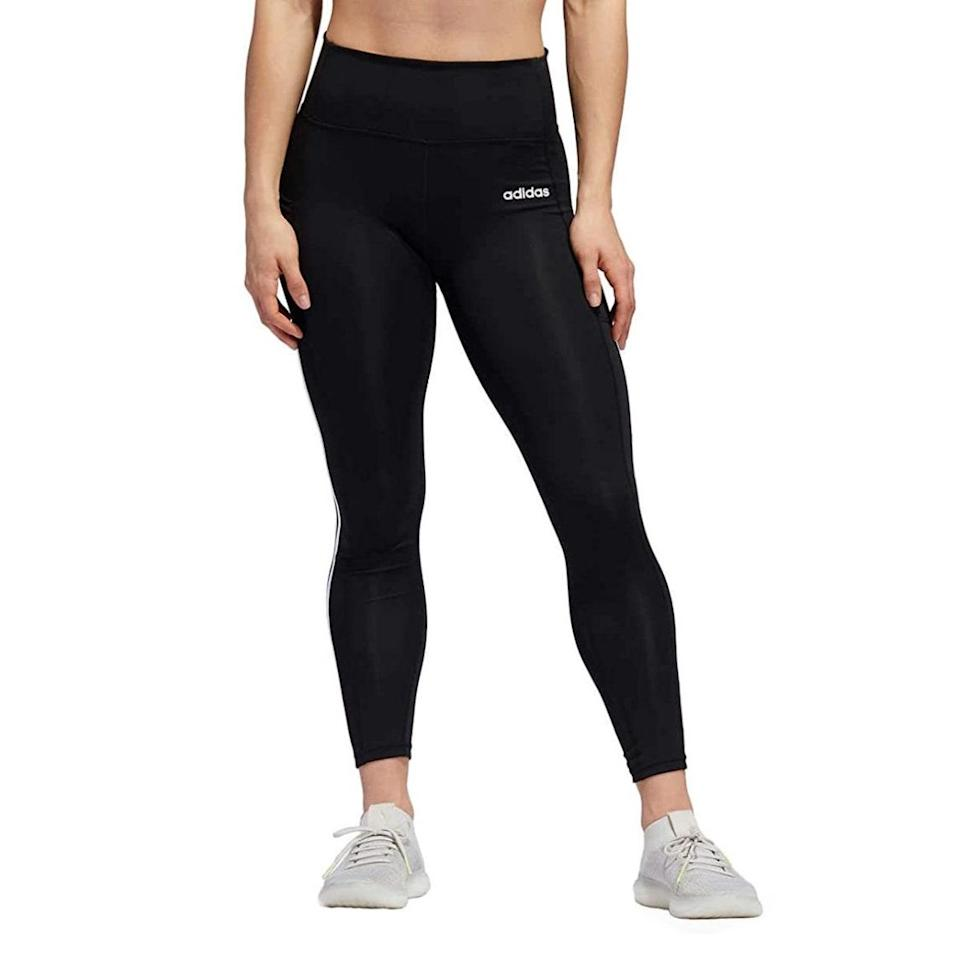 """Reviewers rave about the snug yet comfortable fit and the thick material on these compression leggings that are equally fit for errands or a run. $25, Amazon. <a href=""""https://www.amazon.com/adidas-Ladies-3-Stripe-Active-Tight/dp/B087CMJYKW/ref=sr_1_7"""" rel=""""nofollow noopener"""" target=""""_blank"""" data-ylk=""""slk:Get it now!"""" class=""""link rapid-noclick-resp"""">Get it now!</a>"""
