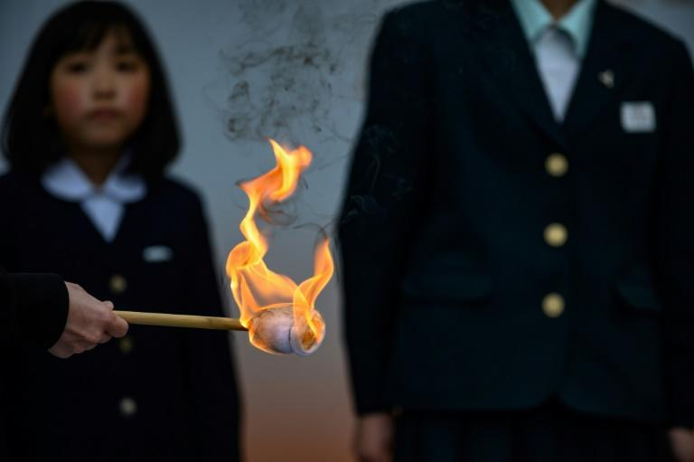 The Olympic flame arrived in Fukushima last year, before the Games and the relay were delayed over the coronavirus
