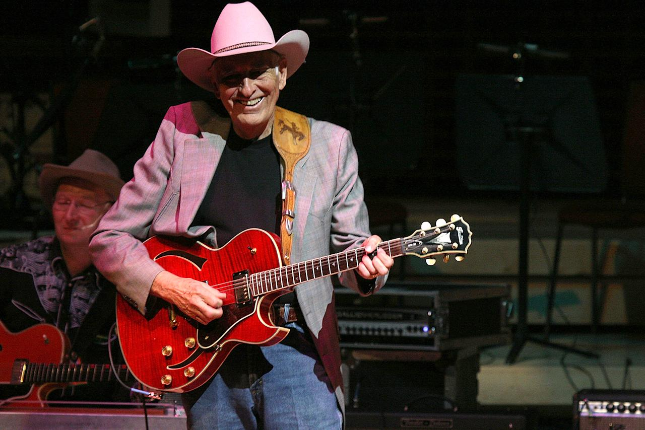 "<p>Tommy Allsup was a rockabilly and swing musician. He worked with Buddy Holly, and lost the now famous coin toss that resulted in him not being in a plane crash that killed Holly and three others in 1959, known as ""the day the music died."" Allsup passed away on Jan. 11 following complications from hernia surgery. He was 85.<br /> (Photo: David Munn/WireImage) </p>"