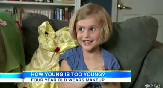 This Four-Year-Old Girl Wears Makeup: Is She Too Young?