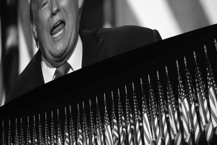 <p>Donald Trump accepts the nomination at the RNC Convention in Cleveland, OH. on July 21, 2016. (Photo: Khue Bui for Yahoo News)</p>