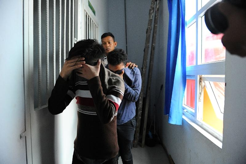 The pair, aged 20 and 23, were sentenced to 85 strokes of the cane each after being found guilty of breaking sharia law in the only part of Indonesia that implements the strict Islamic regulations
