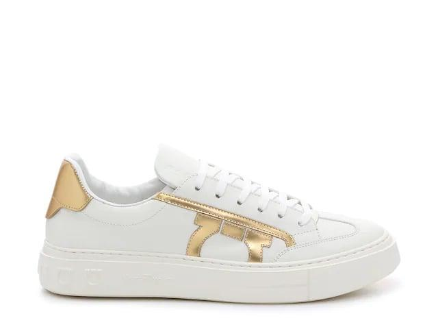 <p>For a classic look, try these <span>Salvatore Ferragamo Borg 10 Sneakers</span> ($400).</p>