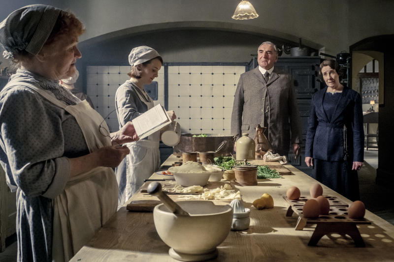 The staff of 'Downton Abbey' prepare for a royal banquet (Credit: Focus Features)
