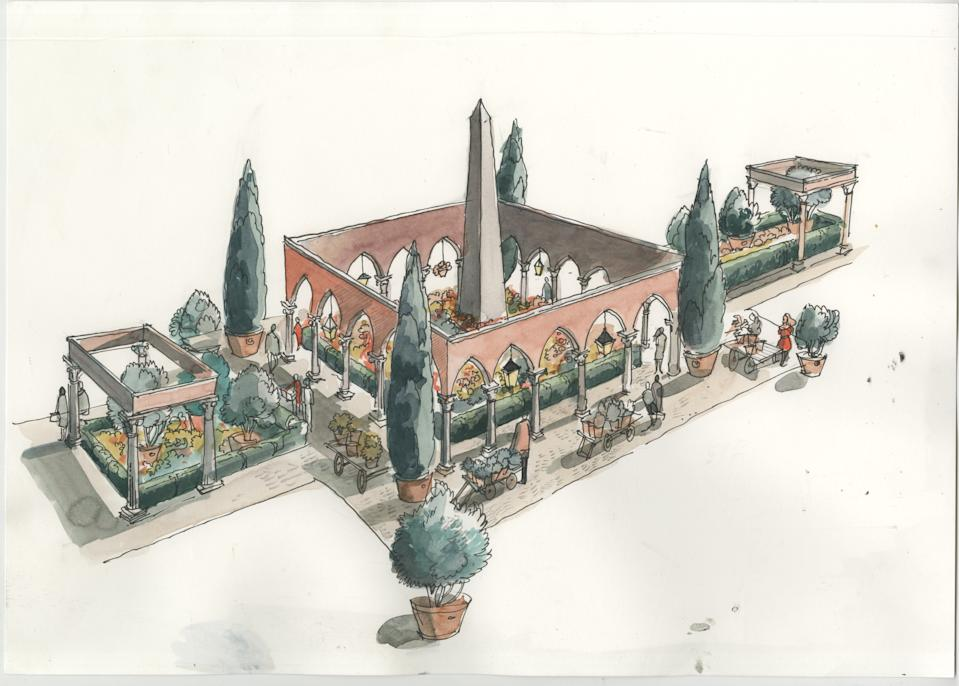 How the Great Pavilion Piazza will look (Villaggio Verde/PA)