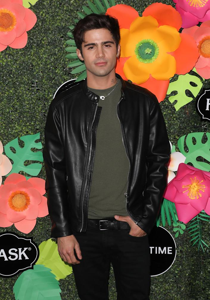 Max Ehrich pictured at Lifetime's Summer Luau in May 2019. (Photo: Paul Archuleta via Getty Images)