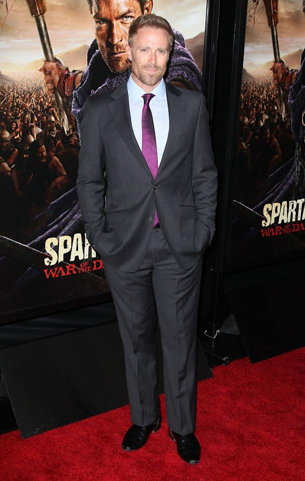 """Ditch Davey attends the premiere of Starz's """"Spartacus: War of the Damned"""" at Regal Cinemas L.A. Live on January 22, 2013 in Los Angeles, California."""
