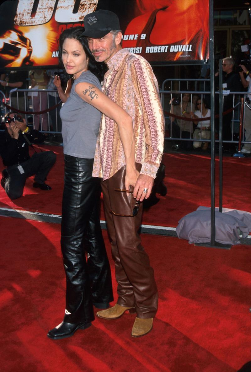 """The couple that wore leather pants together might not have stayed together, but they'll always have this fashion moment, from the Los Angeles premiere of """"Gone in 60 Seconds"""" in 2000."""