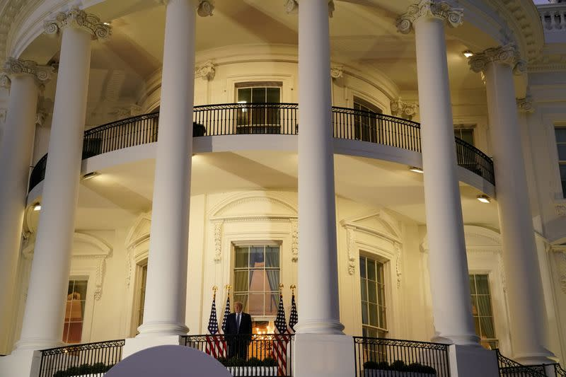 U.S. President Donald Trump returns to the White House after being hospitalized at Walter Reed Medical Center for coronavirus disease (COVID-19), in Washington