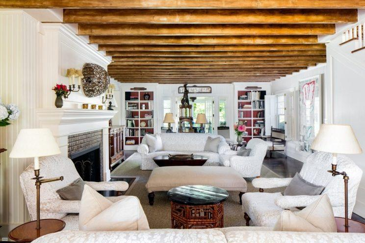 Living Room With Exposed Wood Beams. (Photo: BHS)