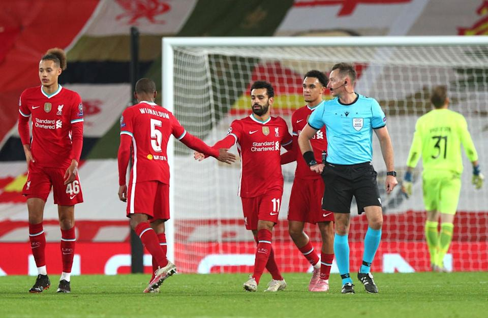 Salah scored the Reds' second goalGetty Images