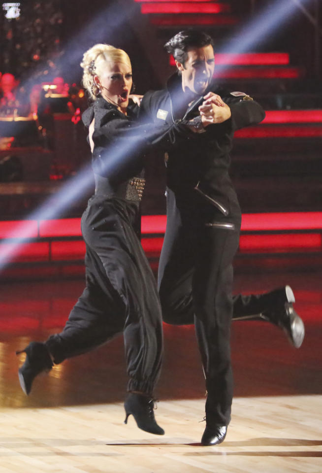 "Peta Murgatroyd and Gilles Marini perform on ""Dancing With the Stars: All-Stars."""