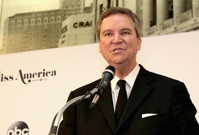 Sam Haskell during the 2018 Miss America competition press conference last September. (Photo: Getty Images)