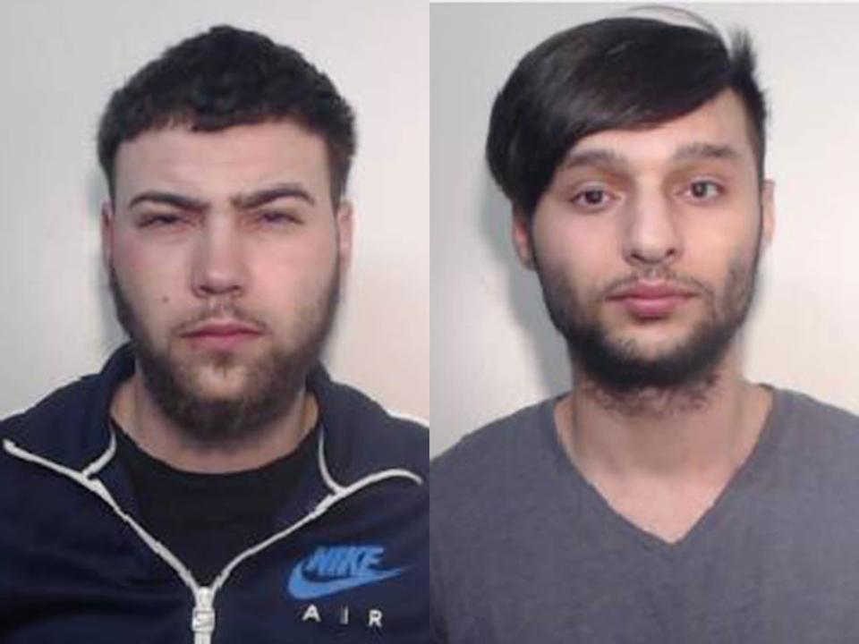 Cousins Parizian Calin (L) and Adrian Calin (R) were among those jailed: Greater Manchester Police