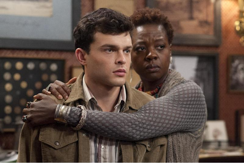 """This film image released by Warner Bros. Pictures shows Alden Ehrenreich, left, and Viola Davis in a scene from """"Beautiful Creatures."""" (AP Photo/Warner Bros. Pictures, John Bramley)"""
