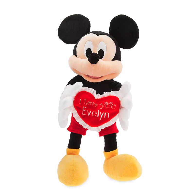Mickey Mouse Personalized Message Plush. Image via ShopDisney.