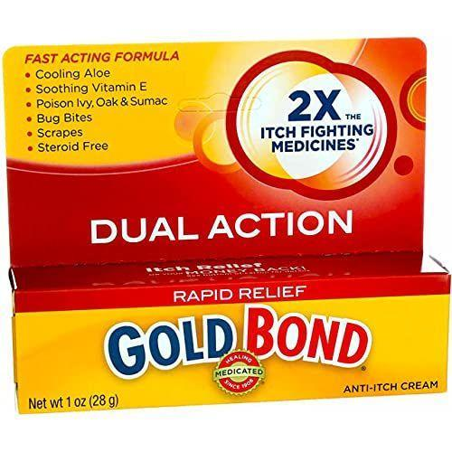 """<p><strong>Gold Bond</strong></p><p>amazon.com</p><p><strong>$11.72</strong></p><p><a href=""""https://www.amazon.com/dp/B00EZWRX0E?tag=syn-yahoo-20&ascsubtag=%5Bartid%7C2140.g.36743167%5Bsrc%7Cyahoo-us"""" rel=""""nofollow noopener"""" target=""""_blank"""" data-ylk=""""slk:Shop Now"""" class=""""link rapid-noclick-resp"""">Shop Now</a></p><p>Gold Bond is another good option for outdoor-related itching and with menthol as its active ingredient, you'll quickly notice a cooling sensation of relief upon application.</p>"""
