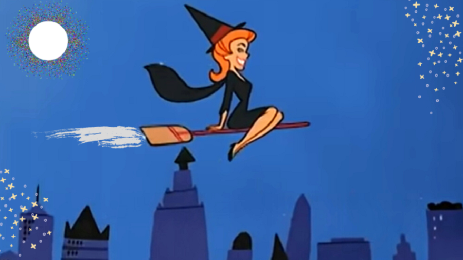 The iconic original animated opening credits to Bewitched.