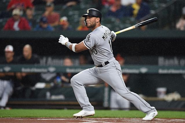 Chicago White Sox second baseman Yoan Moncada could provide last-round value in 2019 fantasy drafts. (AP Photo/Gail Burton)