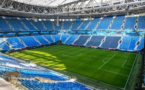 <span>The Saint Petersburg Stadium will hosts one of the semi-finals</span> <span>Credit: AFP </span>