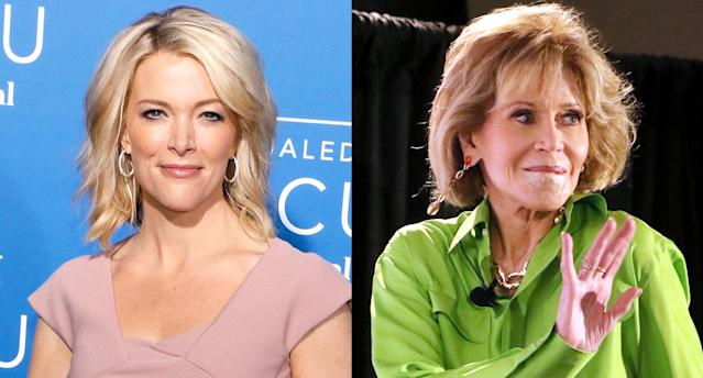 Megyn Kelly, left, is responding to backlash over her plastic surgery question to Jane Fonda. (Photo: Getty Images)