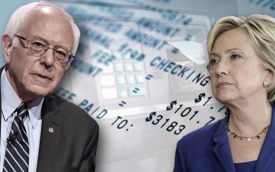 Taking on the banks, $5 at a time: Clinton, Sanders target ATM fees