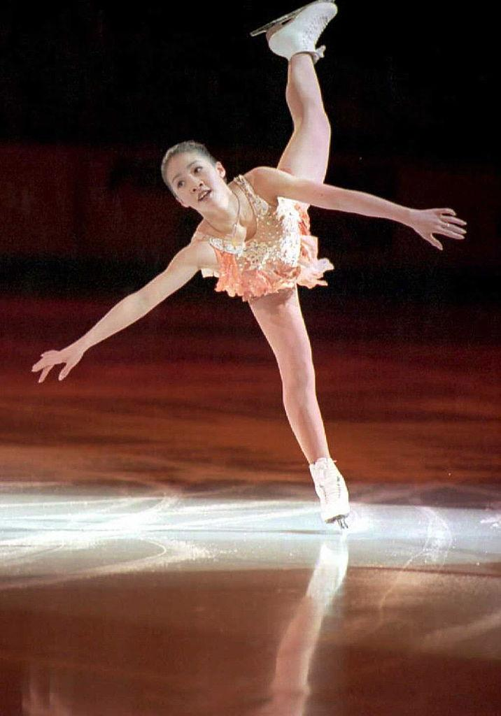 World Champion Michelle Kwan from America skates d