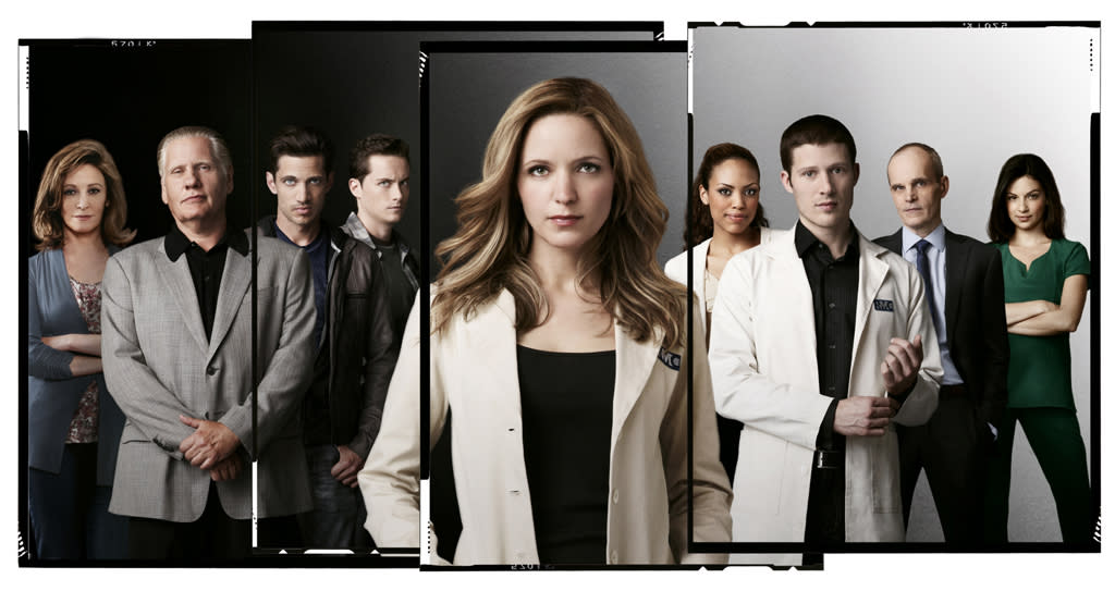 """<b>""""<a href=""""http://tv.yahoo.com/mob-doctor/show/48528"""">The Mob Doctor</a>"""" (Fox) </b><br><br>This muddled mash-up of """"ER"""" and """"The Sopranos"""" can't approach either of those two great shows when it comes to ratings: It <a href=""""http://tv.yahoo.com/news/ratings-rat-race-nbc-revolution-opens-big-fox-161716476.html"""">debuted DOA</a> to a sickly 5.1 million viewers -- down 30% from its """"Bones"""" lead-in. (It just barely topped a """"2 Broke Girls"""" repeat, for crying out loud!) In Week 2, against much stiffer competition, """"Mob Doctor"""" <a href=""""http://tv.yahoo.com/news/ratings-nbc-wins-premiere-monday-dwts-trips-five-153814382.html"""">withered even further</a> to just 4 million viewers, finishing a distant fourth in the time slot. You thought mobsters were tough… try making network executives angry.  <br><br><b>Prognosis:</b> Will be taken off life support soon enough. Fox will probably replace it with something starring Gordon Ramsay by Thanksgiving."""