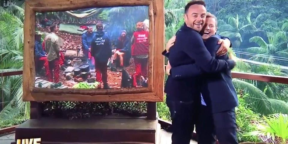 Ant made light of his rehab stint on the I'm A Celeb launch. Copyright: [ITV]