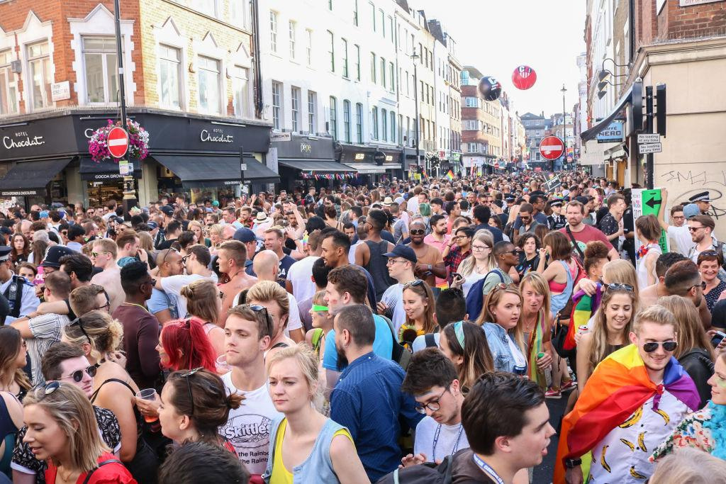 <p>The celebrations brought a carnival atmosphere to Soho, London [Picture: Getty] </p>