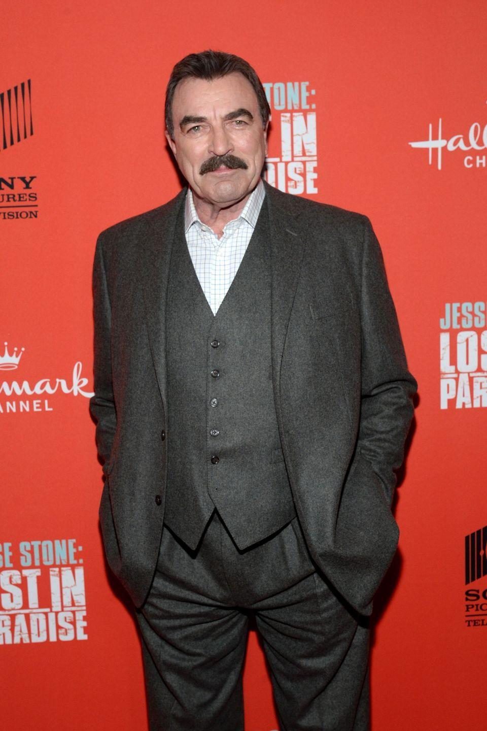 """<p>The actor got a basketball scholarship to attend the University of Southern California. However, outside of the gym, Selleck was also a <a href=""""https://www.hillsdalesigmachi.com/new-page"""" rel=""""nofollow noopener"""" target=""""_blank"""" data-ylk=""""slk:member of Sigma Chi"""" class=""""link rapid-noclick-resp"""">member of Sigma Chi</a>. </p>"""