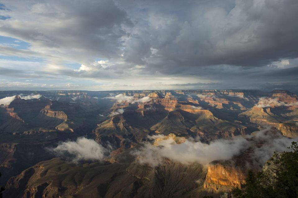 <p>The aerial view from Yavapai Point at the Grand Canyon National Park, Arizona // August 7, 2015</p>
