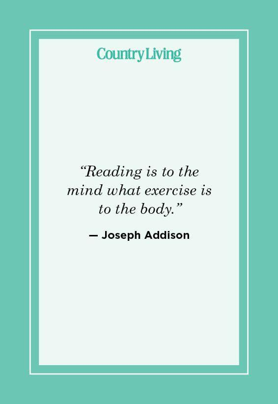 """<p>""""Reading is to the mind what exercise is to the body."""" </p>"""