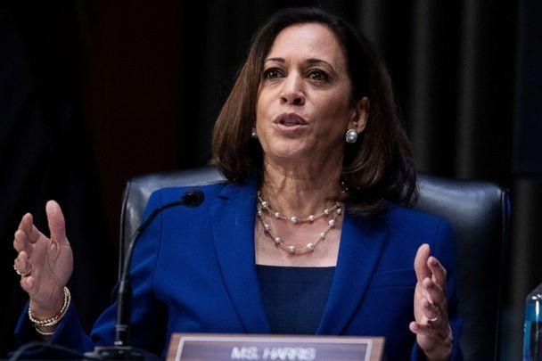 PHOTO: Sen. Kamala Harris attends the Senate Judiciary Committee hearing titled 'Police Use of Force and Community Relations', in Dirksen Senate Office Building in Washington, June 16, 2020. (Tom Williams/POOL/EPA via Shutterstock)