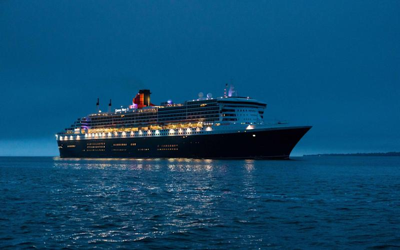 Cunard's Queen Mary 2 at sea