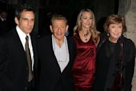 """<p><strong>Famous parent(s)</strong>: comedians Jerry Stiller and Anne Meara<br><strong>What it was like</strong>: Ben credits his parents in part for his career. """"If my parents were, like, plumbers, who knows what I would be doing,"""" he's <a href=""""https://parade.com/440016/jerylbrunner/happy-birthday-ben-stiller-10-of-our-favorite-quotes-from-the-actor-and-director/"""" rel=""""nofollow noopener"""" target=""""_blank"""" data-ylk=""""slk:said"""" class=""""link rapid-noclick-resp"""">said</a>. </p>"""