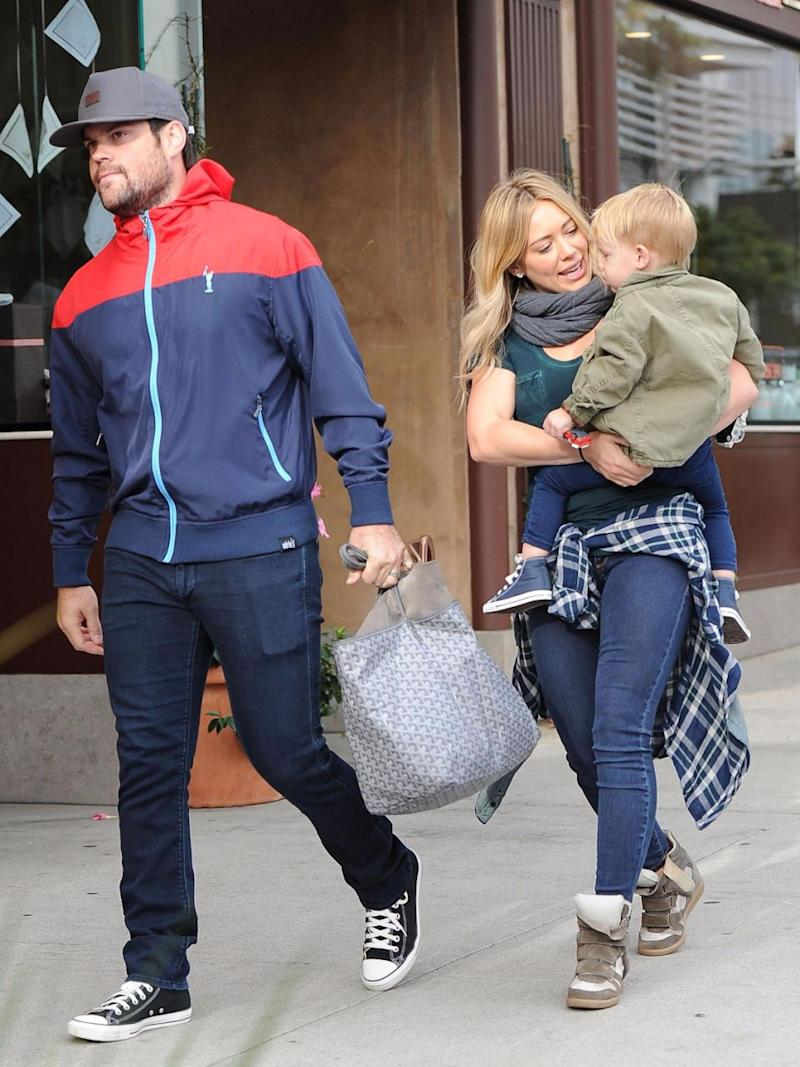 Hilary Duff and her ex-Mike Comrie tied the knot in 2010 and had a son before they divorced in 2015. Source: Getty