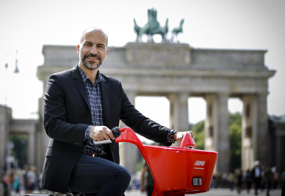 Uber CEO Dara Khosrowshahi says he's going big on food.